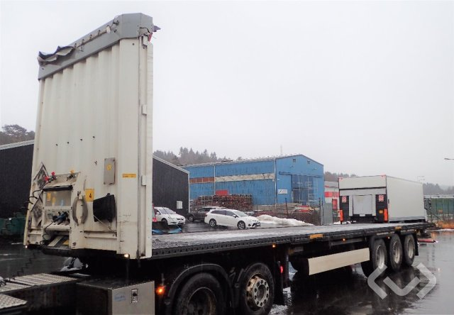 Krone SD (Rep. Objekt) (Export only) 3-axlar Flaktrailer, har varit gardintrailer - 14