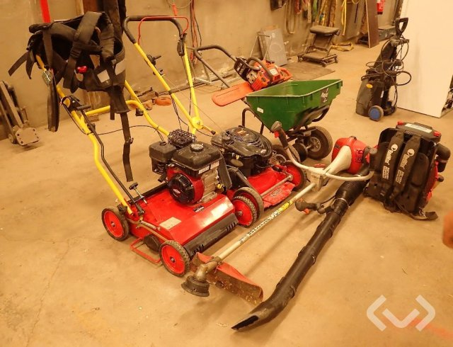 Various chainsaw, lawn mower, mower driver etc.