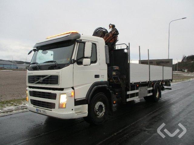 Volvo FM340 4x2 Flat bed-flaps (crane + tail lift) - 09