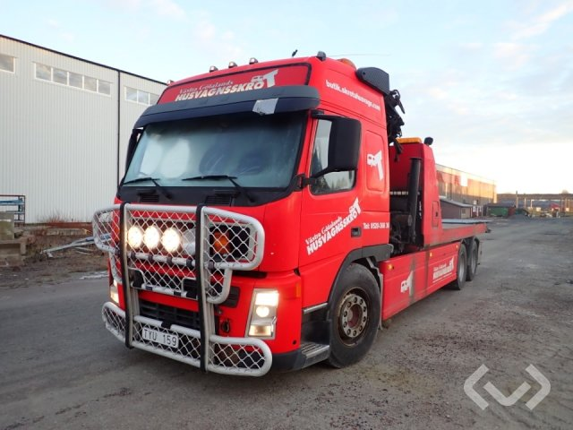 Volvo FM9 Towing truck 6x2 Flatbed dropsides (crane) - 03