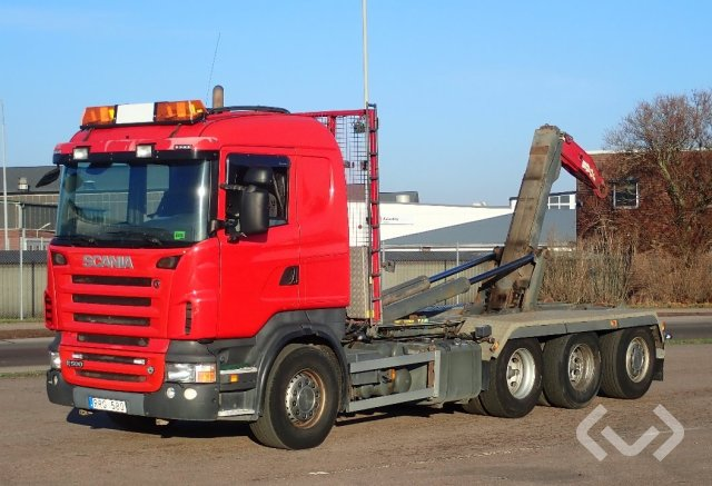 Scania R500LB HNB snow-equipped 8x4*4 Hook trailer (swap body trailer) - 08