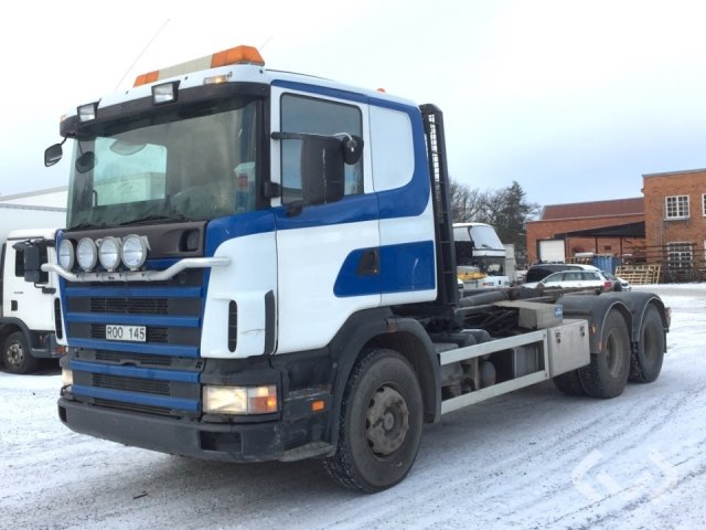 Scania R124GBXZ420 6x2 Hook trailer (swap body trailer) - 00