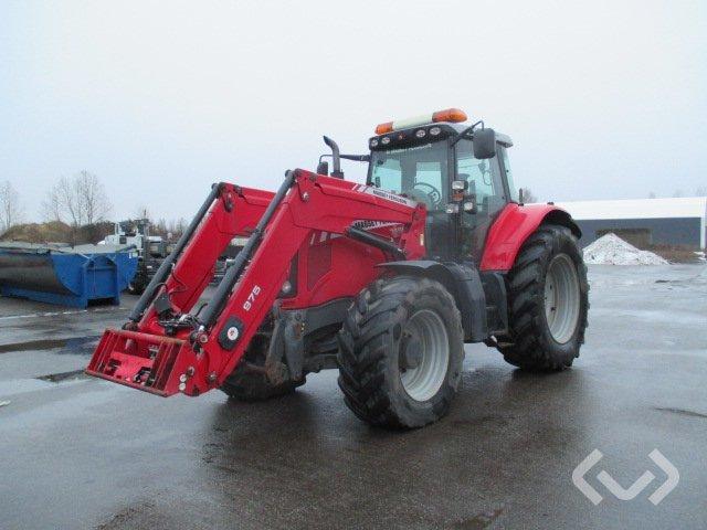 MASSEY FERGUSON 7495 Dyna VT Traktor med lastare & frontlyft (rep.objekt) - 10