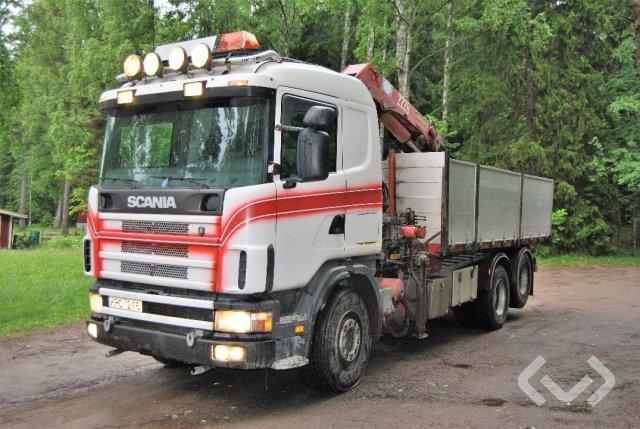 Scania R144GB NB460 6x2 Tippbil (kran) - 99