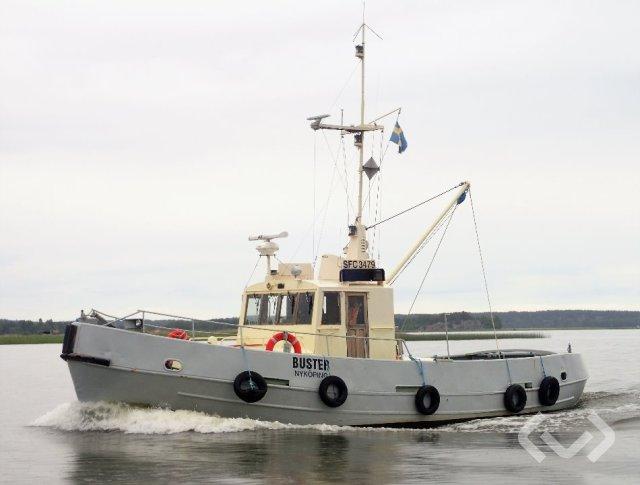 Br Larssons Mek. Verkstad Buster Bogsermotorbåt / Isbrytare - 63