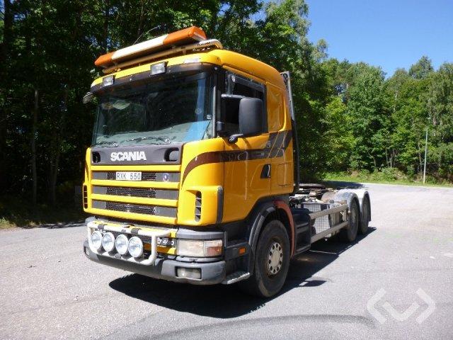 Scania R164GBNB480 6x4 Snabblåsbil (vändskiva) - 01