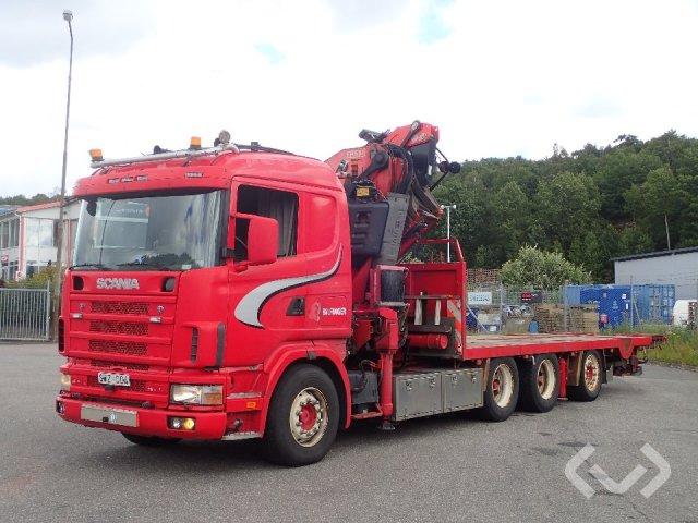 Scania R124GB  (Rep. objekt) 8x4 Bodbil (kran) - 02