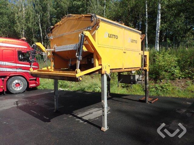Oletto mm. AF50 Asfaltscontainer, släp med asfaltskokare + utrustning