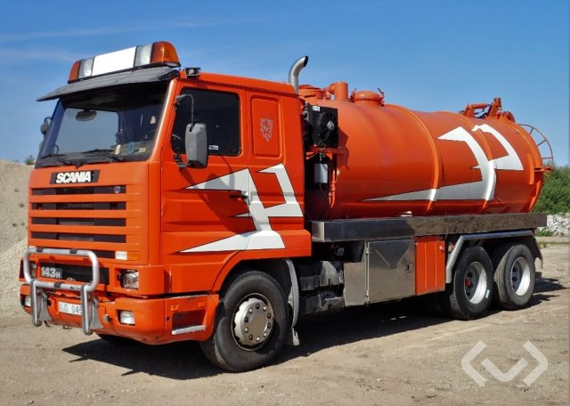 Scania R143 HL L (Rep. objekt) 6x2 Slam-sugbil - 96