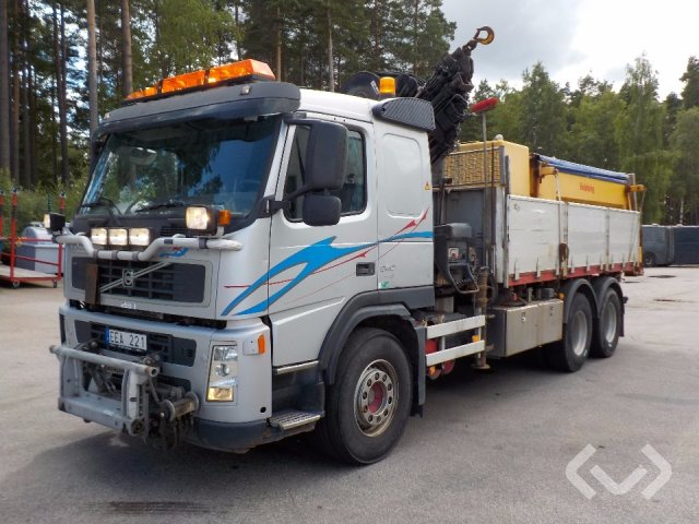 Volvo FM380 6x4 Flak-lämmar (kran) + saltspridare - 07