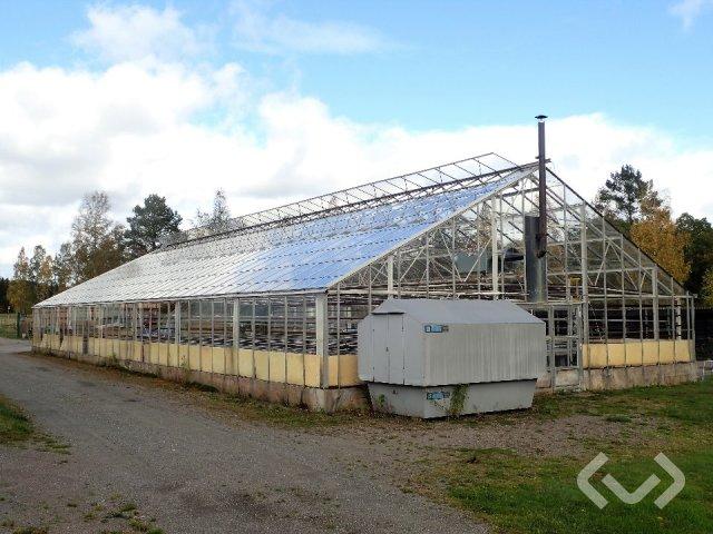 300 m2 Växthus med värme- och vattensystem