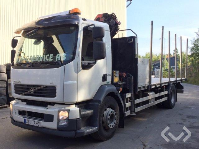 Volvo FL 290 4x2 Flak-lämmar (kran) - 12