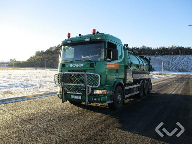 Scania R124GB NA470 8x4 Slam-sugbil - 01
