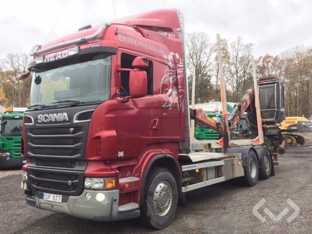 Scania R500LBHNA 6x2 Timmerbil (kran) - 12