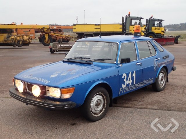 Saab 99 GLS med friktionsmätare, för flygplats