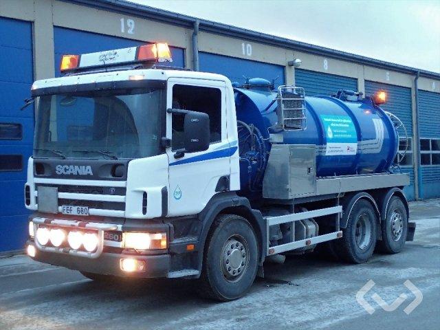 Scania P94DB (utdömd tank/ ej kompl) 6x2 Slam-sugbil - 99