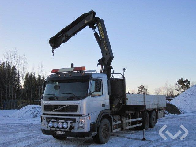 Volvo FM12 62 R HIGH REA 6x2 Flak-lämmar (kran) - 03