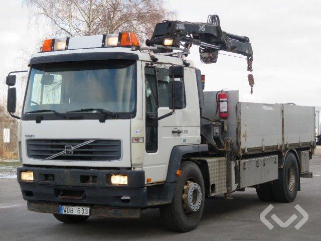 Volvo FL618 4x2 Flak-lämmar (kran) - 04