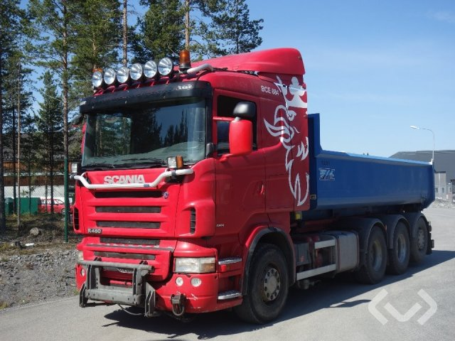 Scania R480LB HHA 8x4*4 Lastväxlare - 08