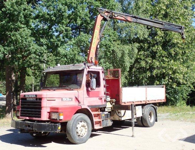 Scania T93HL 4x2 Tippbil (kran) - 92