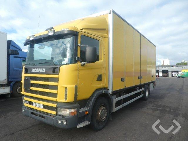 Scania R124LB NA420 4x2 Skåp (öppningsbar sida+bg-lyft) - 01