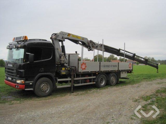 Scania P114GB NA 6x2 Flak-lämmar (kran) - 97
