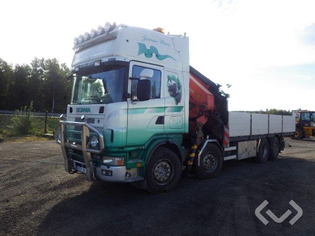Scania R144GB 6NA530 8x2 Flak-lämmar (kran) - 00