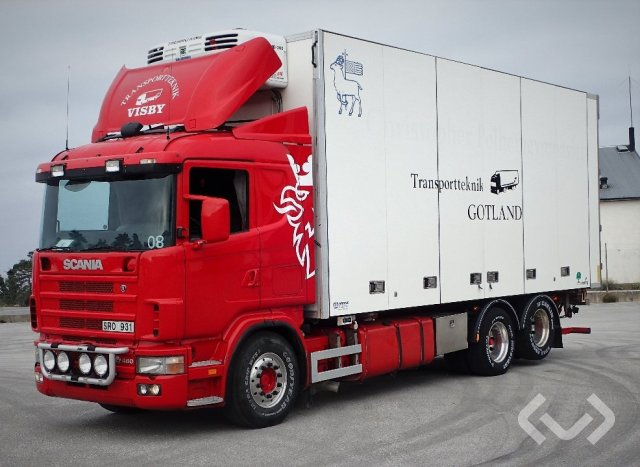 Scania R164LB NB480 6x2 Växelflak (bg-lyft+skåp+kylaggregat+öppningsbar sida) - 02