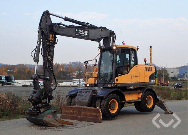 Volvo EW160C Hjulgrävare med tiltrotator och skopa. - 10
