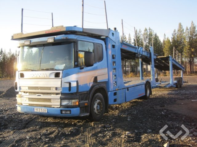Scania 124G säljs med släp YFZ 548 6x2 + 2 axlar Biltransport - 98