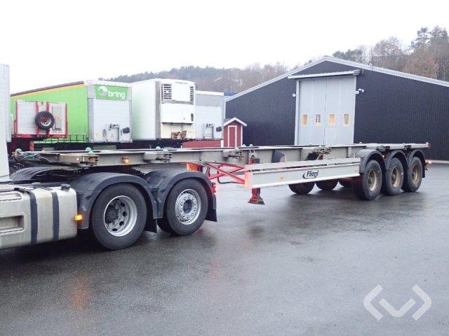 Fliegl SDS 400 3-axlar Växelflakstrailer (Container) - 11